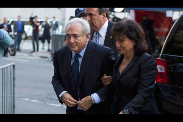 DSK et Anne Sinclair, à New York, le 24 août dernier.