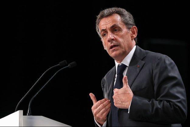 Nicolas Sarkozy lors d'un meeting à Nice, le 15 novembre 2016, en campagne pour la primaire de la droite.