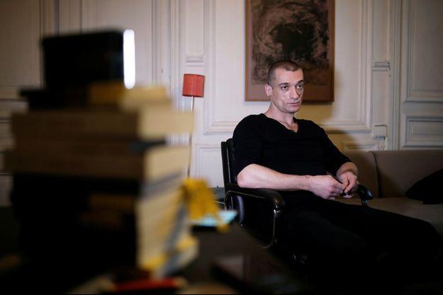 Piotr Pavlenski lors d'une interview le 23 février.