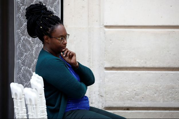 La porte-parole du gouvernement Sibeth Ndiaye ici à l'Elysée, mi-janvier.