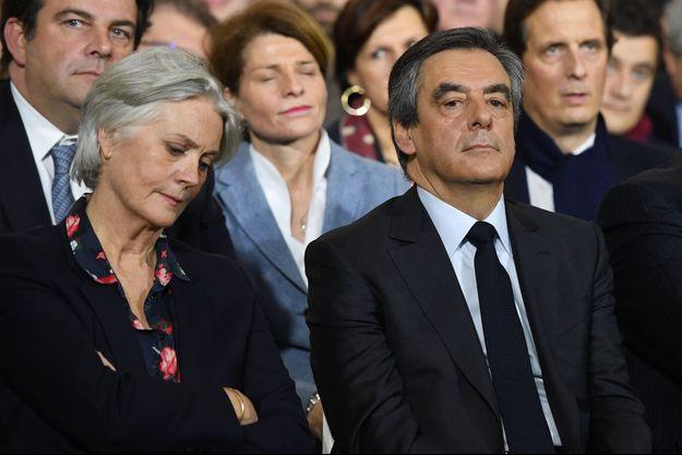 Penelope et François Fillon, dimanche 29 janvier à Paris.