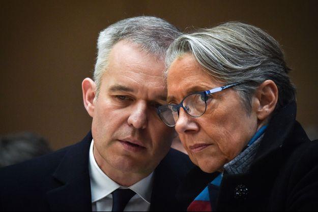 Elisabeth Borne et François de Rugy à Nantes en février dernier