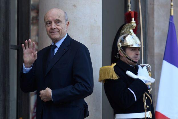Alain Juppé à l'Élysée lundi.