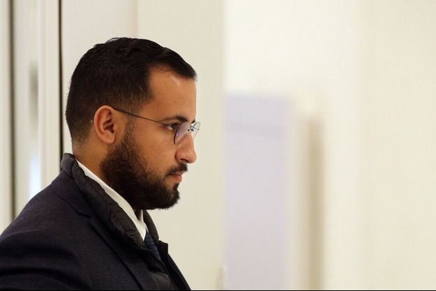 Alexandre Benalla au tribunal de Paris, mardi.