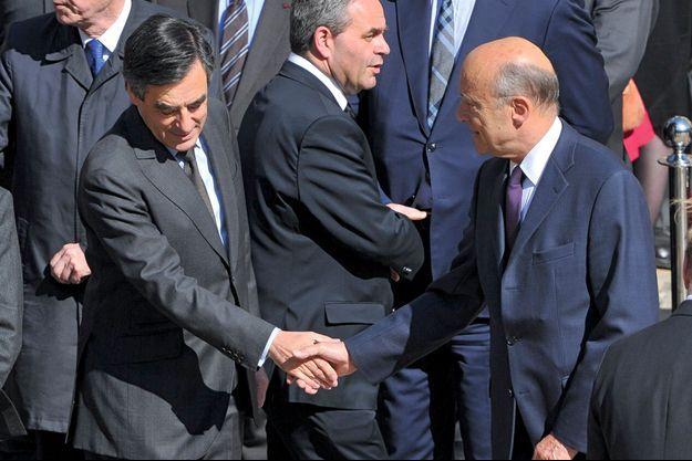 François Fillon et Alain Juppé le 15 avril dernier à Toulouse.