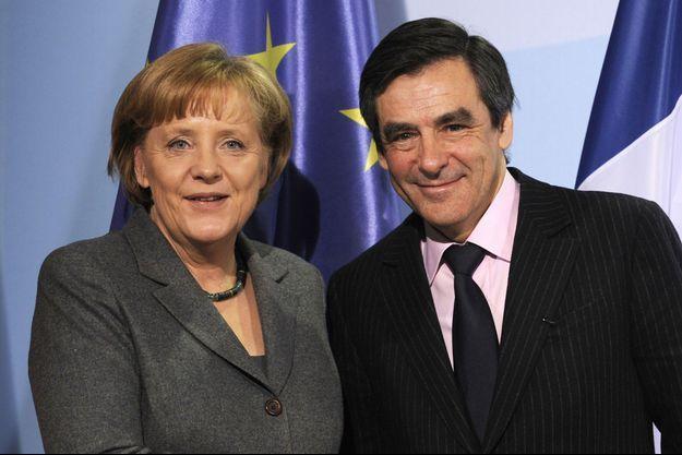 Angela Merkel et François Fillon, en 2010. (photo d'illustration)