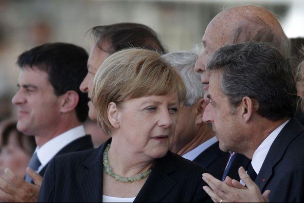 Angela Merkel et Nicolas Sarkozy le 6 juin dernier à Ouistreham, pour le 70ème anniversaire du débarquement en Normandie.