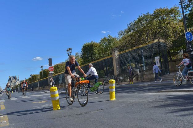 Rue de Rivoli, ici le 11 septembre.