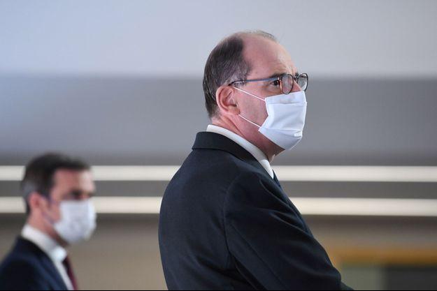 Jean Castex et Olivier Véran lors d'un conférence de presse en 4 mars.