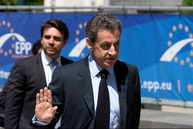 Nicolas Sarkozy à Bruxelles, jeudi.