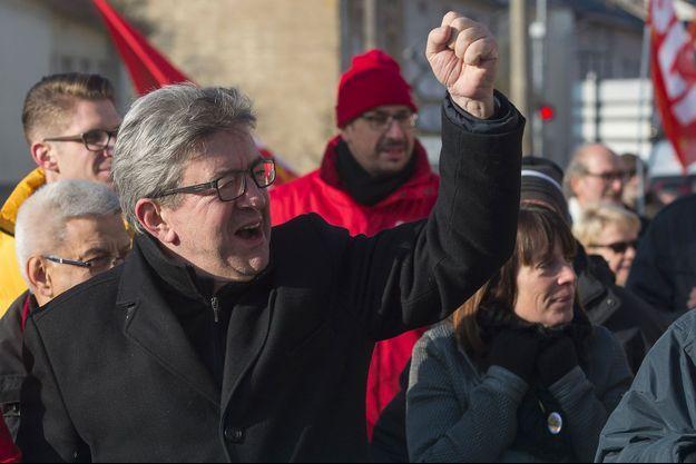 Jean-Luc Mélenchon à Hayange, vendredi dernier.