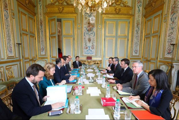 Emmanuel Macron recevait ce lundi Christophe Castaner, Laurent Nuñez et Nicole Belloubet.