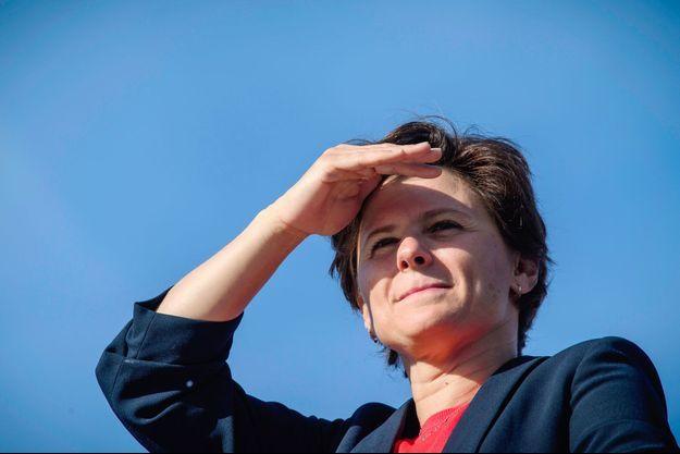 Roxana Maracineanu lors de la course La Parisienne, dimanche, à Paris.