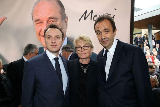 Martin Rey-Chirac, Claude Chirac et son époux, Frédéric Salat-Baroux à Sarran, en Corrèze, le 5 octobre dernier.