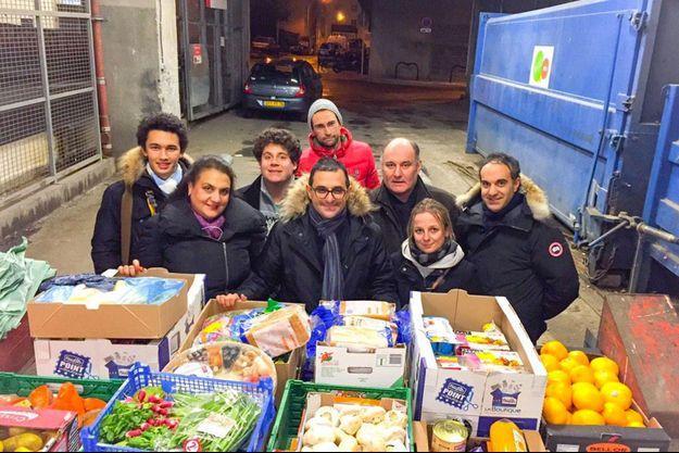 Depuis Courbevoie, Arash Derambarsh, 36 ans, agit contre le gaspillage alimentaire.