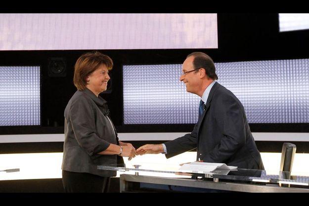Martine Aubry et François Hollande.