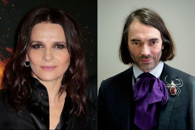 Juliette Binoche et Cédric Villani.