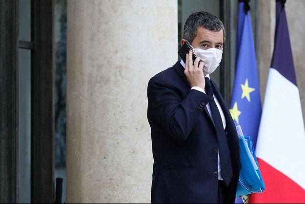 Gérald Darmanin, mercredi à la sortie du Conseil des ministres.