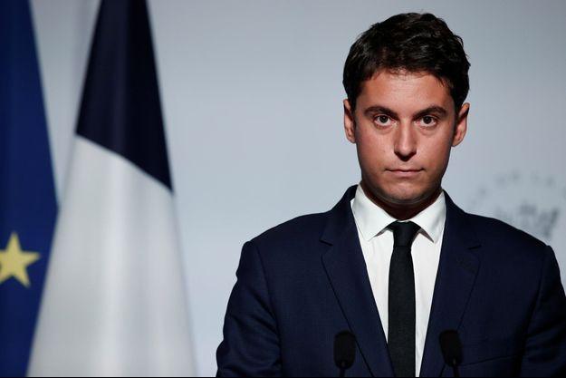 Gabriel Attal, ici en conférence de presse à l'Elysée.