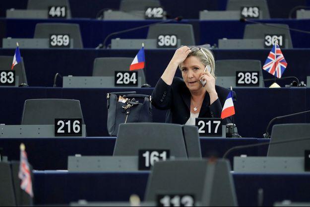 Marine Le Pen au Parlement européen en janvier dernier.
