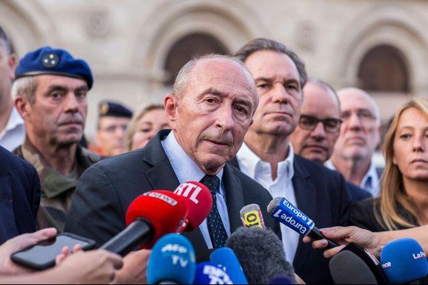 Gérard Collomb à Marseille après l'attaque Gare Saint-Charles.