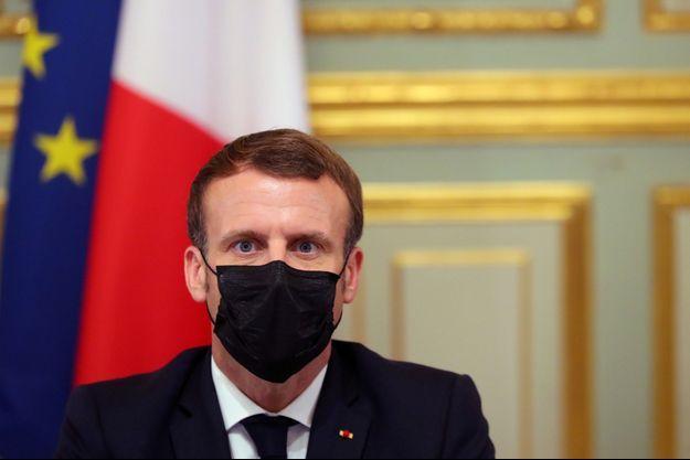 Emmanuel Macron le 29 octobre à l'Élysée.