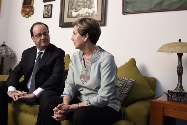 François Hollande et la fille de Salvador Allende, Isabel Allende.