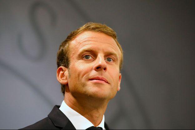 Emmanuel Macron durant une conférence de presse à Copenhague, au Danemark, mardi.