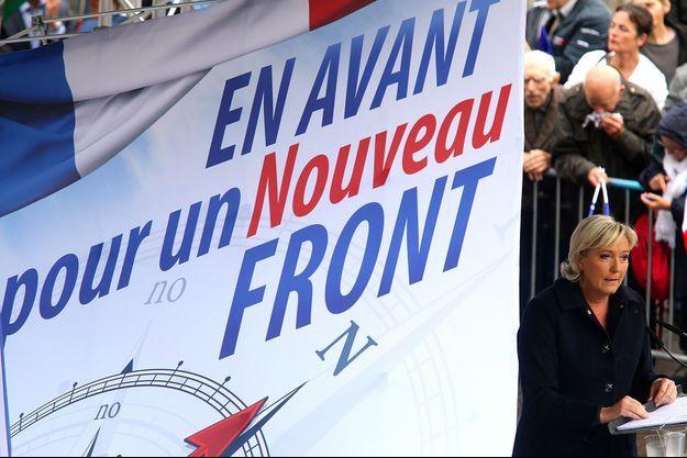 Marine Le Pen à Brachay, le 9 septembre.