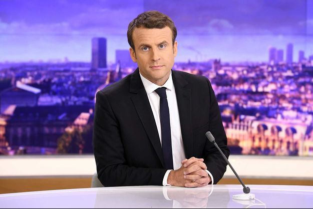 Emmanuel Macron, sur le plateau du JT de France 2.