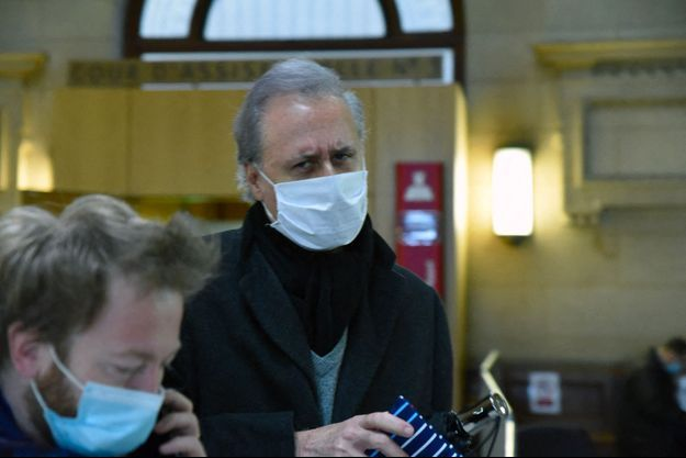 Georges Tron au tribunal de Paris, mardi.