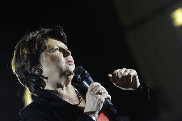Martine Aubry, le jeudi 25 février, lors d'une réunion sur la primaire