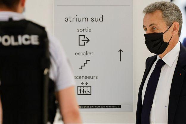 Nicolas Sarkozy mardi au tribunal correctionnel de Paris .