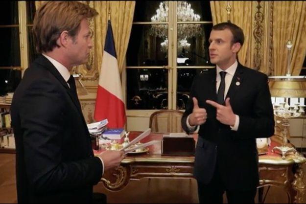 Emmanuel Macron dimanche face à Laurent Delahousse.
