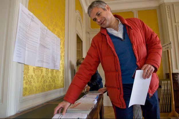 Laurent Wauquiez a voté ce dimanche au Puy-en-Velay.