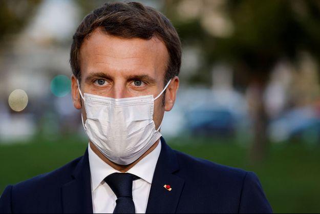 Emmanuel Macron, le 23 octobre 2020.