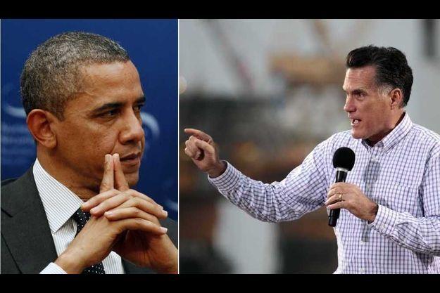 Barack Obama et Mitt Romney.