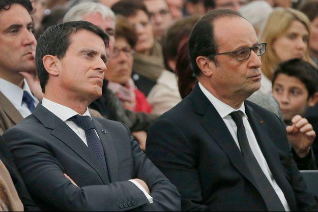 Manuel Valls et François Hollande le 27 octobre dernier.