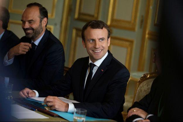 Edouard Philippe et Emmanuel Macron à l'Elysée le 13 juillet dernier.