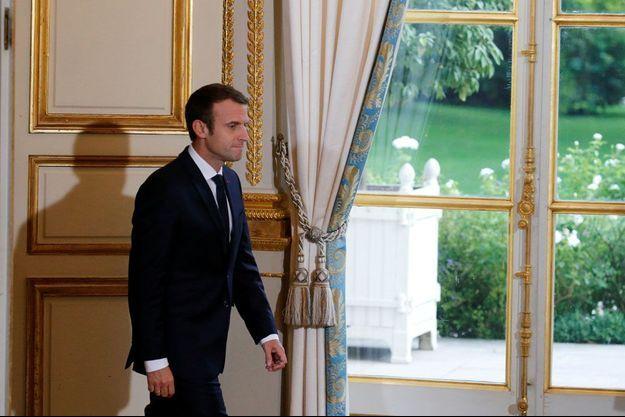 Emmanuel Macron à l'Elysée le 8 juillet.