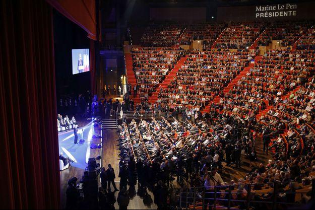 Marine Le Pen, le 30 novembre 2014, lors du congrès du Front national.