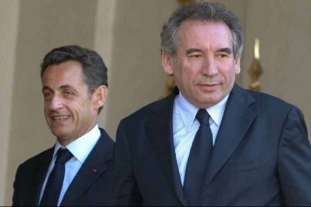 Nicolas Sarkozy et François Bayrou en 2009.