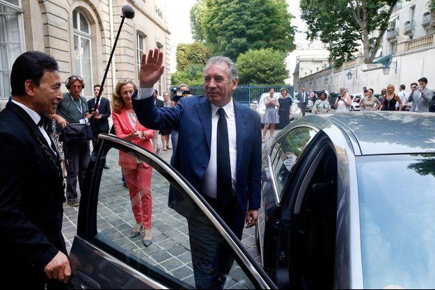 François Bayrou à son départ du ministère de la Justice.