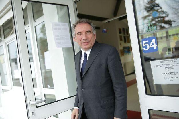 François Bayrou à Pau le 30 mars 2014