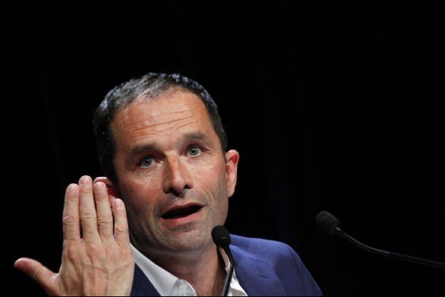 Benoît Hamon lors de la convention de Générations, le 1er juillet, à Grenoble.