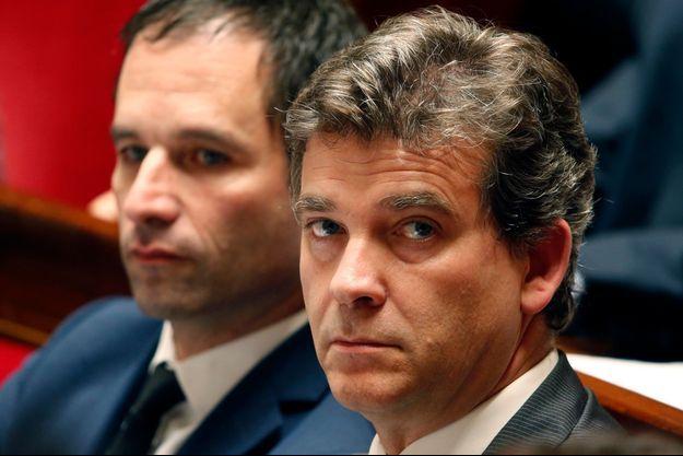 Benoit Hamon et Arnaud Montebourg à l'Assemblée nationale, le 15 juillet dernier.
