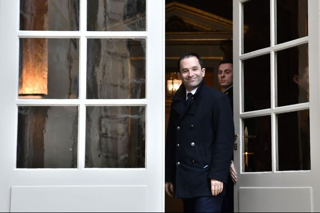 Benoît Hamon à Matignon, lundi.