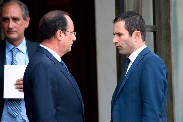 François Hollande et Benoît Hamon en mai 2014.