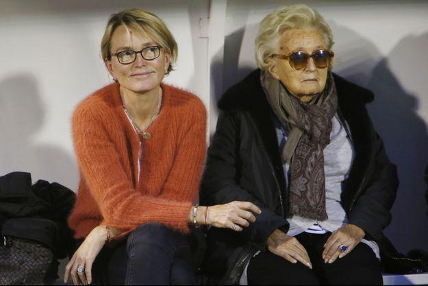 Claude et Bernadette Chirac ici en octobre 2017 lors d'un match caritatif présidé l'ex-Première dame à Poissy.