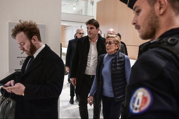 Isabelle Balkany et son fils Alexandre vendredi au tribunal.